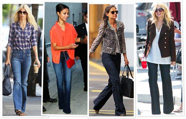 джинсы мода 70-х